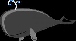 Whale Grey Big Clip Art at Clker.com - vector clip art ...