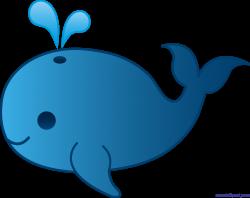 Cute Blue Whale Clip Art - Sweet Clip Art