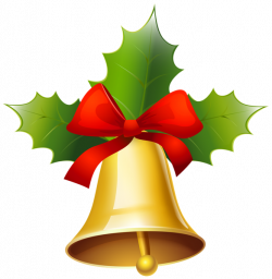 Golden Christmas Bell PNG Clipart Image | - Borders, Frames ...