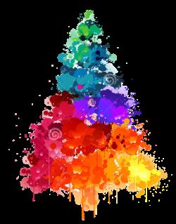 christmas xmas winter tree multicolor multicolour water...