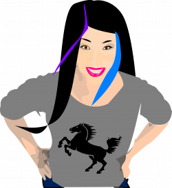 Clipart - Black-Haired Punk Girl