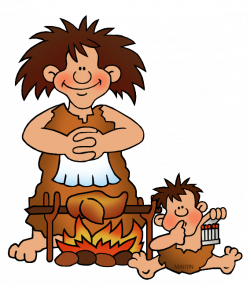 Early Humans Clip Art by Phillip Martin, Woman Cooking