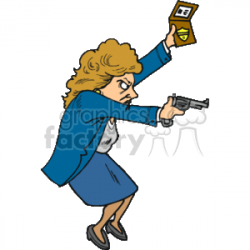 female detective clipart. Royalty-free clipart # 161584