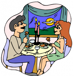 Eating Dinner Out Clipart