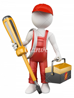 3D White People Electrician - Photos by Canva