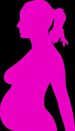 Clipart - pregnancy silhouet