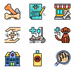 Veterinary Icons - 153 free vector icons