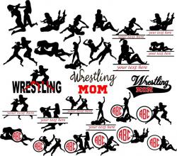 Wrestling Mom, Wrestling Silhouettes, Wrestling Monogram svg, Wrestling  Clipart, Wrestling svg, Wrestling Monogram Frames, Woman Wrestling