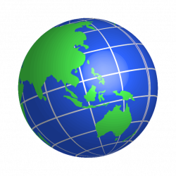 World Clip Art Globe - Awesome Graphic Library •
