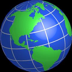 Globe United States Clipart