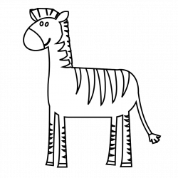 clipartist.net » Clip Art » colorful animal zebra black white line ...