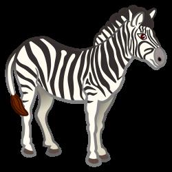 Clipart - zebra - coloured