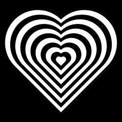 Heart clipart zebra - Pencil and in color heart clipart zebra