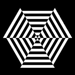 Public Domain Clip Art Image | hexagon zebra pizza | ID ...