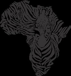 Printwallart African Zebra Map Map. map of world. Transparent Africa ...