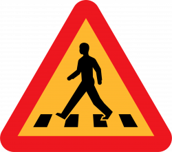 Clipart - pedestrian crossing sign