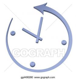 Stock Illustration - Turn back the clock. Clipart gg4490280 ...