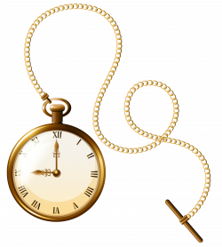 Gold Pocket Watch Clock PNG Clip Art - Best WEB Clipart