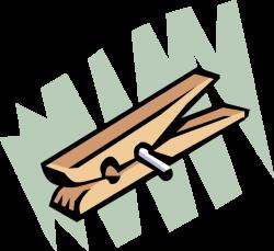 Clothespin or Clothes-Peg - Vector Image