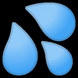 Sweat droplets Icon | Noto Emoji Clothing & Objects Iconset | Google