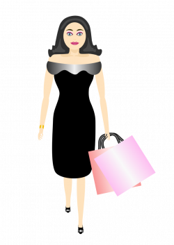 Public Domain Clip Art Image | glamour girl shopping | ID ...