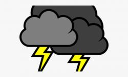 Dark Clipart Thunderstorm Cloud - Lightning Cloud Clipart ...