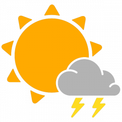 simple weather icons scattered thunderstorms   SVG(VECTOR):Public ...