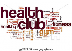Stock Illustration - Health club word cloud. Clipart ...