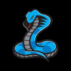 Printed vinyl Blue Cobra | Stickers Factory
