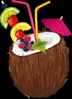 Cocktail Coconut water Coconut milk Clip art - coconut 1341*1840 ...