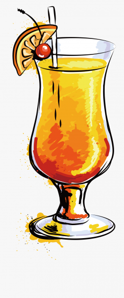 Cocktail Orange Juice Mojito Clip Art Refreshing ...
