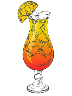 Cocktail Tequila Sunrise Liqueur Retro style - Great ice orange ...