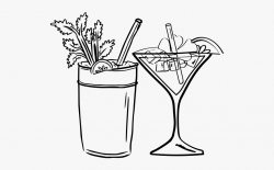 Cocktail Clipart Spirit Alcohol - Cocktail Black And White ...