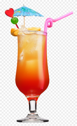 Drinks Clipart Welcome Drink - Tequila Sunrise Cocktail Png ...