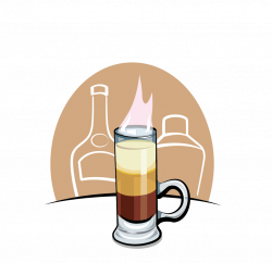 B-52 Cocktail Drawing Clip art - Hand-painted cartoon cocktail 1039 ...