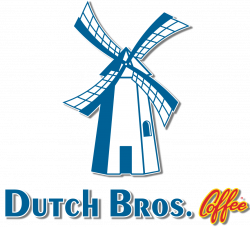 Dutch Bros Coffee Text Logo With Windmill Color Vert Outlined - The ...