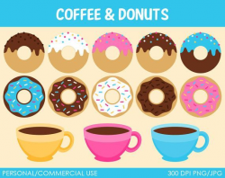 Coffee and Donuts Clip Art Free | Clip art | Coffee clipart ...
