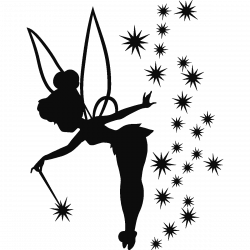 Sticker fée adorable | Pinterest | Tinkerbell, Silhouette and Tattoo