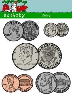 US Coin / Money Clipart | TpT Math Lessons | Clip art, Coins ...