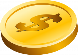 Clipart - Gold Dollar Coin