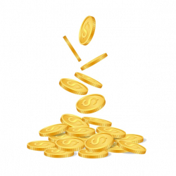 Falling Coins PNG Photo | PNG Mart