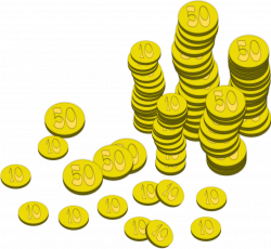 Coins   Free Stock Photo   Illustration of stacks of gold coins ...
