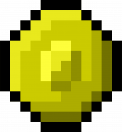 Clipart - Pixel Gold Coin