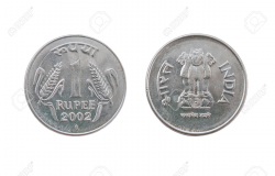 One Indian Rupee coin » Clipart Station