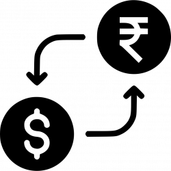 Money Exchange Currency Conversion Indian Rupee Dollar Svg Png Icon ...