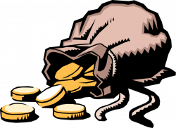 Money Bag Full of Gold Coins - Vector Image