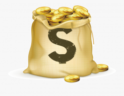 Coins Clipart Bag Full Money - Gold In Bag #2327780 - Free ...