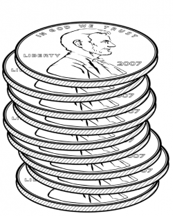 Stacks of Pennies | ClipArt ETC