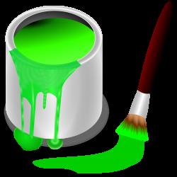 Clipart - color bucket green