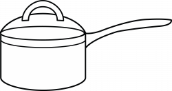 Cooking Pot Coloring Page - Free Clip Art